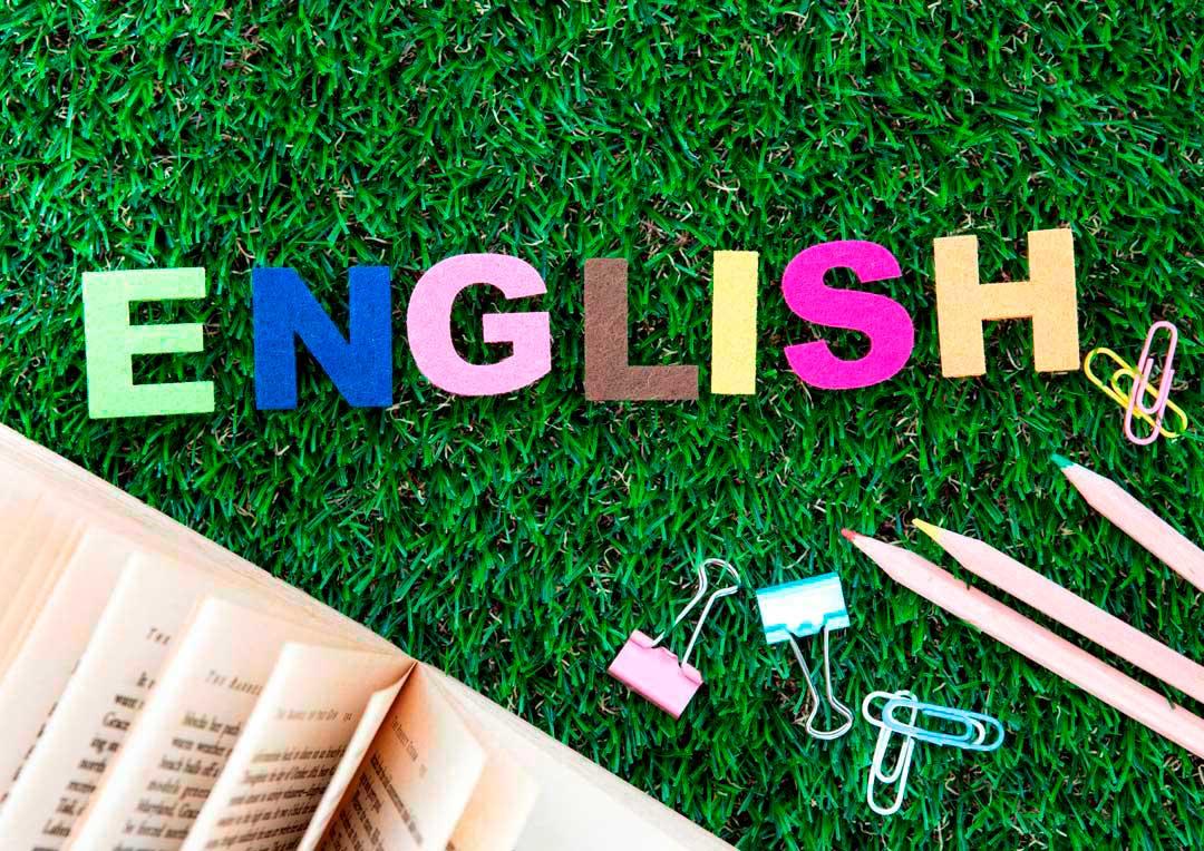 letras formando a palavra english